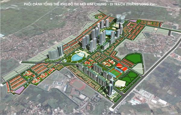 quy hoạch khu đô thị liền kề kim chung di trạch